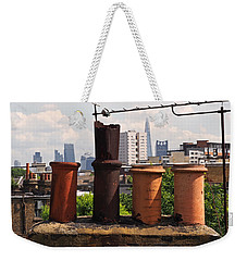Victorian London Chimney Pots Weekender Tote Bag by Rona Black