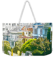 Victorian Painted Ladies Houses In San Francisco California Weekender Tote Bag