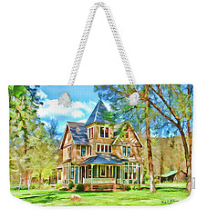 Weekender Tote Bag featuring the photograph Victorian Painting by Wendy McKennon