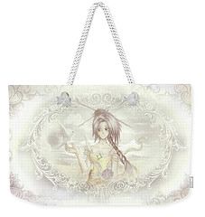 Weekender Tote Bag featuring the mixed media Victorian Princess Altiana by Shawn Dall