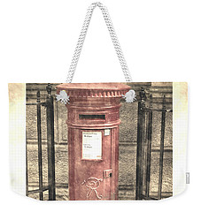 Victorian Red Post Box Weekender Tote Bag
