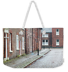 Victorian Terraced Street Of Working Class Red Brick Houses Weekender Tote Bag