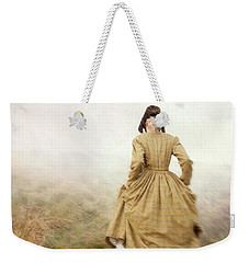 Victorian Woman Running On The Misty Moors Weekender Tote Bag