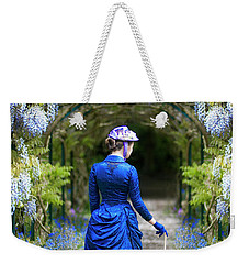 Victorian Woman With Wisteria Weekender Tote Bag