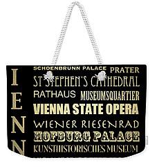 Vienna Austria Famous Landmarks Weekender Tote Bag