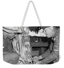 Viet Cong Booby Trap Weekender Tote Bag by Underwood Archives