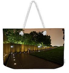 Vietnam Memorial By Night Weekender Tote Bag