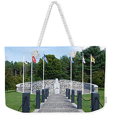 Vietnam Memorial In Vermont Weekender Tote Bag