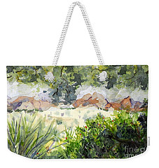 View At Red Rock Weekender Tote Bag