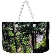 Weekender Tote Bag featuring the photograph View Downhill by Joseph Hollingsworth