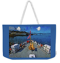 Weekender Tote Bag featuring the photograph View From The Deck by Thom Zehrfeld