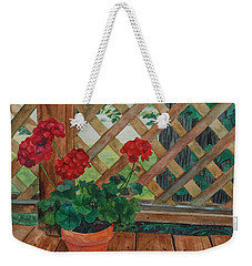 View From A Deck Weekender Tote Bag