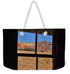 View From A Ghost Ranch Cabin Weekender Tote Bag