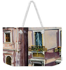 View From A Venetian Window Weekender Tote Bag by Marlene Book