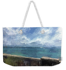 Weekender Tote Bag featuring the digital art View From Bermuda Naval Fort by Luther Fine Art