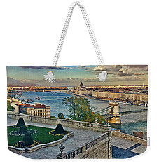 View From Castle Hill, Budapest, Hungary Weekender Tote Bag by Jim Pavelle