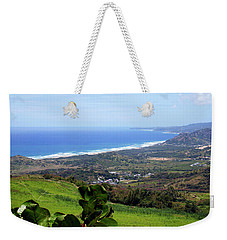 Weekender Tote Bag featuring the photograph View From Cherry Hill, Barbados by Kurt Van Wagner