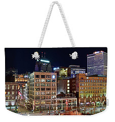 Weekender Tote Bag featuring the photograph View From Gateway by Frozen in Time Fine Art Photography