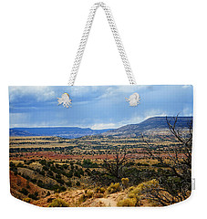 Weekender Tote Bag featuring the photograph View From Ghost Ranch, Nm by Kurt Van Wagner