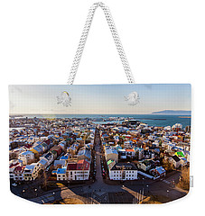 View From Hallgrimskirka Weekender Tote Bag by Wade Courtney
