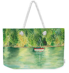 Weekender Tote Bag featuring the painting View From Millbay Ferry by Vicki  Housel