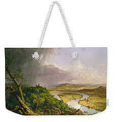 View From Mount Holyoke Northampton Massachusetts After A Thunderstorm. The Oxbow Weekender Tote Bag by Thomas Cole