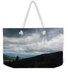 Weekender Tote Bag featuring the photograph View From Mount Washington  by Suzanne Gaff