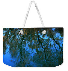 Water Show Blue Weekender Tote Bag by Jacqueline M Lewis
