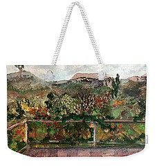 View From The Deck Weekender Tote Bag