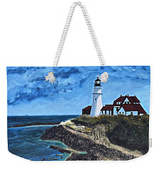 View From The North Portland Head Light Weekender Tote Bag