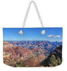 Weekender Tote Bag featuring the photograph View From The South Rim by John M Bailey