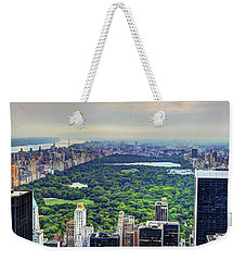 View From The Top Of The Rock Rockefeller Center Nyc II Weekender Tote Bag