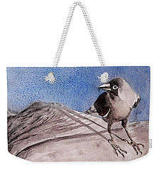 Weekender Tote Bag featuring the painting View by Jasna Dragun