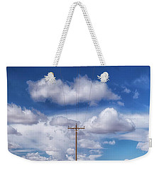 View Of A Phone Pole Weekender Tote Bag