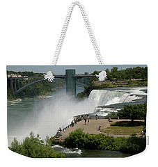 Weekender Tote Bag featuring the photograph View Of American Niagara Falls by Jeff Folger