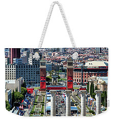 Weekender Tote Bag featuring the photograph View Of Barcelona From Montjuic by Eduardo Jose Accorinti
