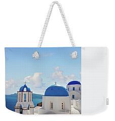 Caldera  Of Santorini Weekender Tote Bag