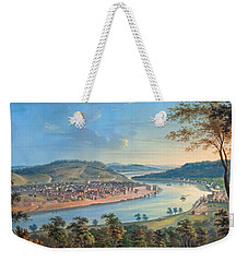 View Of Cincinnati From Covington Weekender Tote Bag by John Caspar Wild