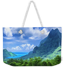 View Of Cook's Bay Mo'orea Weekender Tote Bag