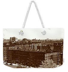 Weekender Tote Bag featuring the photograph View Of Harlem In 1950 by Marilyn Hunt