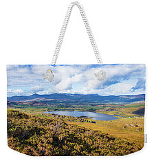 View Of Lough Acoose In Ballycullane From The Foothill Of Macgil Weekender Tote Bag by Semmick Photo