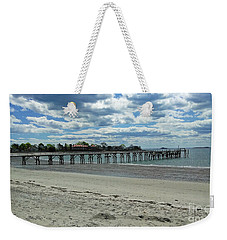 View Of Pier. Fisherman's Beach, Swampscott, Ma Weekender Tote Bag