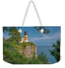 View Of Split Rock Lighthouse Weekender Tote Bag