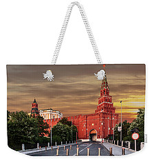 View Of The Borovitskaya Tower Of The Moscow Kremlin Weekender Tote Bag