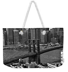 View Of The Brooklyn Bridge Weekender Tote Bag