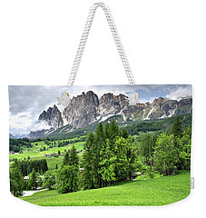View Of The Dolomites Weekender Tote Bag
