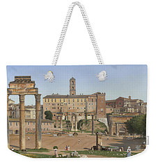 View Of The Forum In Rome Weekender Tote Bag