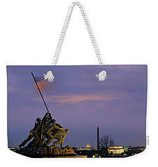 View Of The Iwo Jima Monument Weekender Tote Bag