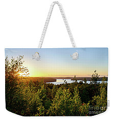 View Of The Lake Hiidenvesi At Sunset Weekender Tote Bag