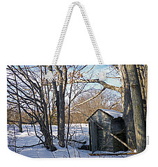 Weekender Tote Bag featuring the photograph View Of The Past by Claire Bull